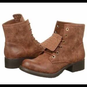 Sam Edelman Shoes - Sam Edelman Circus Brown Leather Boots Sz 7.5M